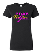 Women's Round-Neck Pray.Forgive.Together.