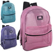 Mesh Backpacks 17 Inch- 3 Variety Colored