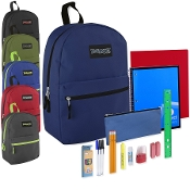 24 Piece Backpack & School Supply Kit