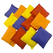 "Assorted 5"" Nylon Bean Bags Cornhole Carnival Game"
