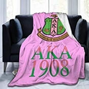 Alpha Kappa Alpha Fleece Bed Super Soft Microfiber Throw Blanket