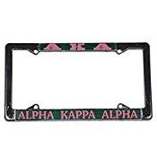 Alpha Kappa Alpha Silver License Plate