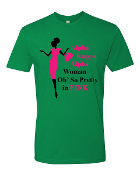 O So Pretty In Pink T-Shirt Design_Green