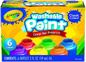 Crayola Washable Kids Paint, (6 Count)