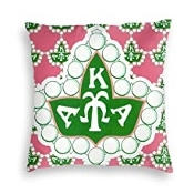 "Alpha Kappa Alpha Velvet Throw Pillow Cover Decorative 18""x18"""